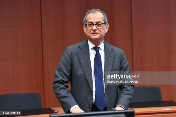 Italy's Finance Minister Giovanni Tria attends an Eurogroup meeting at the European Commission in Brussels on May 16 2019