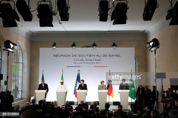 Italy's Foreign Affairs minister Paolo Gentiloni Malian President Ibrahim Boubacar Keita French President Emmanuel Macron German Chancellor Angela...