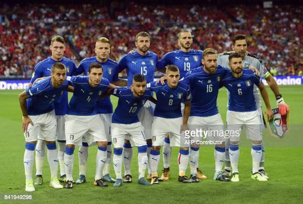 Italy's forward Andrea Belotti Italy's forward Ciro Immobile Italy's defender Andrea Barzagli Italy's defender Leonardo Bonucci Italy's goalkeeper...