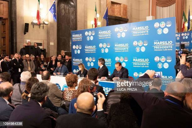 Italys Interior Minister and deputy PM and Federal Secretary of the farright Northern League party Matteo Salvini Italy's former prime minister and...
