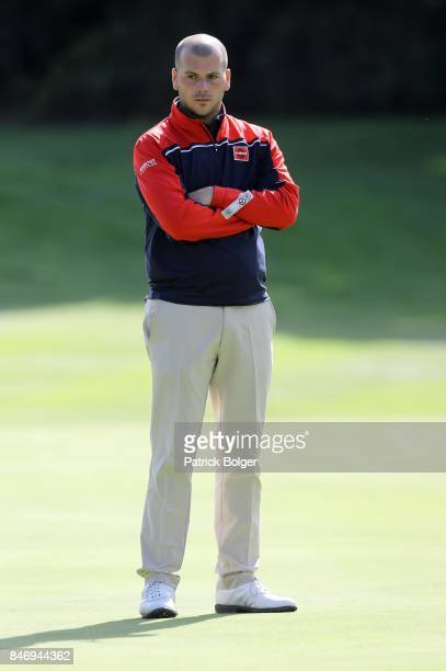 Italy's Jacopo Vecchi Fossa during the first round of the 2017 Irish Challenge at Mount Wolseley Hotel Spa and Golf Resort on September 14 2017 in...