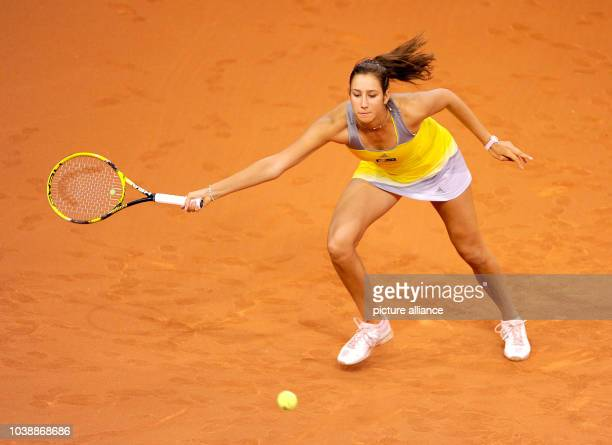 Italy's Nastassja Burnett in action during the first round match against Germany's Lisicki at the WTA Porsche Tennis Grand Prix at the Porsche Arena...