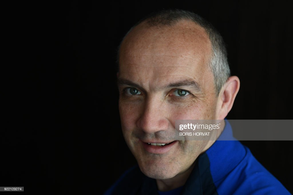Italy's national rugby team head coach Irish Conor O'Shea gives a press conference in Marseille on February 21, 2018 to announce Italy's Six Nations rugby squad ahead of the Six Nations rugby match against France. /