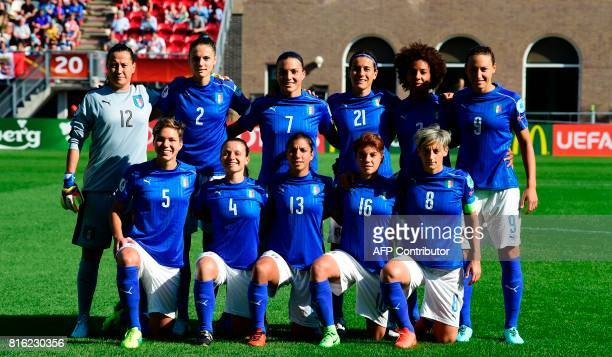 Italy s national soccer team poses before during the UEFA Women s Euro 2017  football tournament between Italy f1a7cebaf4