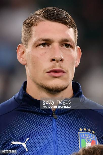 Italy's national team forward Andrea Belotti looks on during the international friendly football match between Italy and Netherlands at 'Allianz...