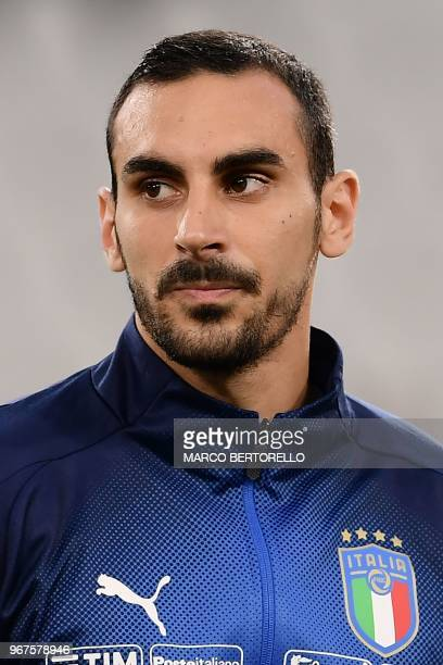 Italy's national team midfielder Davide Zappacosta looks on during the international friendly football match between Italy and Netherlands at...