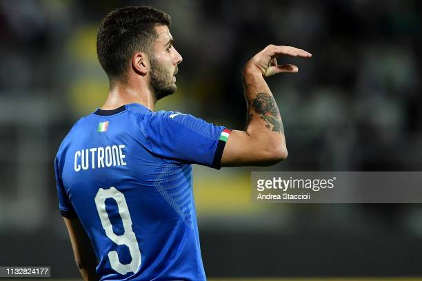 Italy's Patrick Cutrone reacts during international friendly match between Italy U21 and Croatia U21 Italy and Croatia draw 22