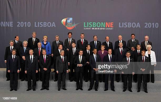 Italy's President of the Council Silvio Berlusconi Latvia's President Valdis Zatlers Lithuania's President Dalia Grybauskaite Luxembourg's Prime...