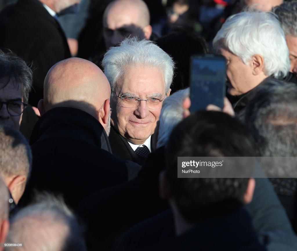 Italy's President Sergio Mattarella visit Sicily