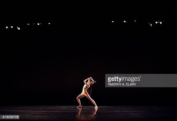Italys Prima Ballerina Assoluta and former American Ballet Theatre principal dancer Alessandra Ferri performs a scene from 'Senza Tempo' before...