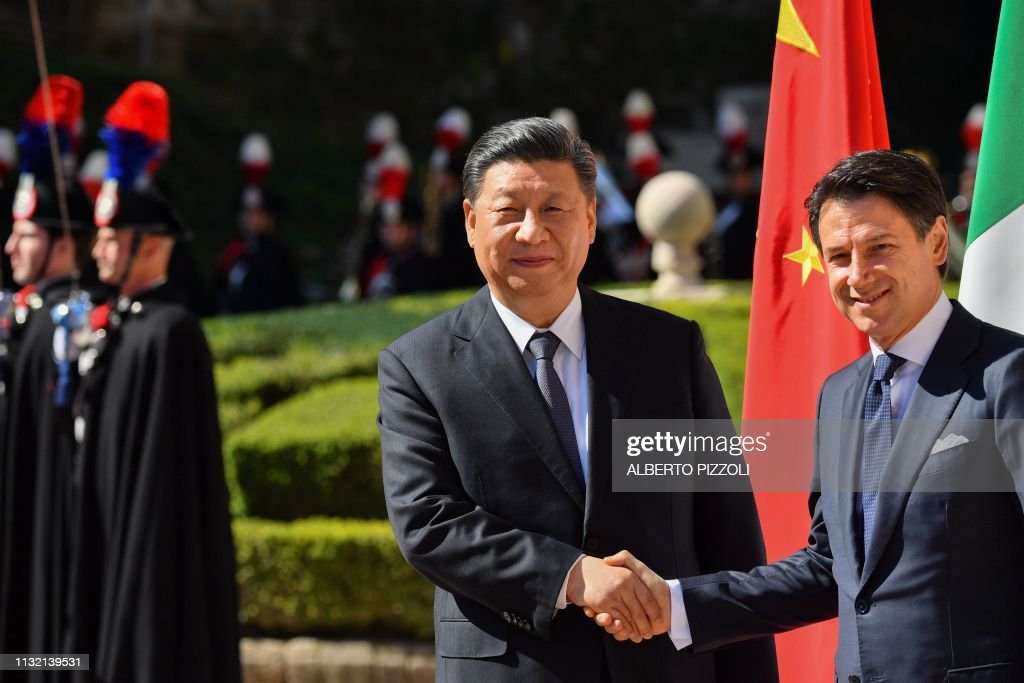 Italys Prime Minister Giuseppe Conte and China's President ...