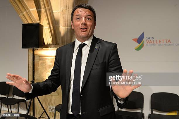 Italy's Prime minister Matteo Renzi is pictured before the start of an Informal European Council meeting following the European Union - Africa Summit...