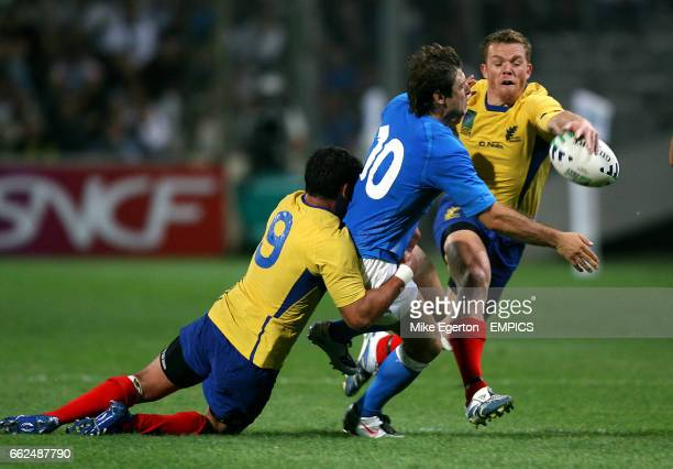 Italy's Ramiro Pez and Romania's Lucian Sirbu and Csaba Gal