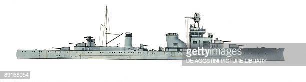 Italys Regia Marina light cruiser Alberto da Giussano illustration