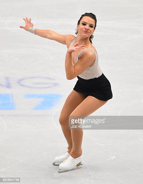 Italy's Roberta Rodeghiero competes during the ladies free skating competition of the European Figure Skating Championship in Ostrava Czech Republic...