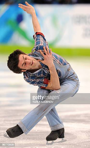 Italy's Samuel Contesti competes in his Figure Skating men's short program at the Pacific Coliseum in Vancouver during the 2010 Winter Olympics on...