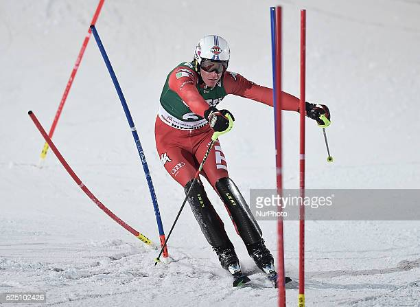 Italy's Siegmar Klotz, after finishing Hahnenkamm course - the men's Alpine Combined - Slalom, at the FIS SKI World Cup in Kitzbuehel. 23 January...