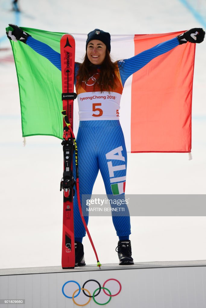 ALPINE-SKIING-OLY-2018-PYEONGCHANG-PODIUM : News Photo