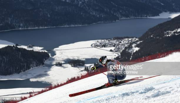 Italy's Sofia Goggia competes in the Women's Super G race during the FIS Alpine Ski World Cup on December 14 in Saint Moritz.