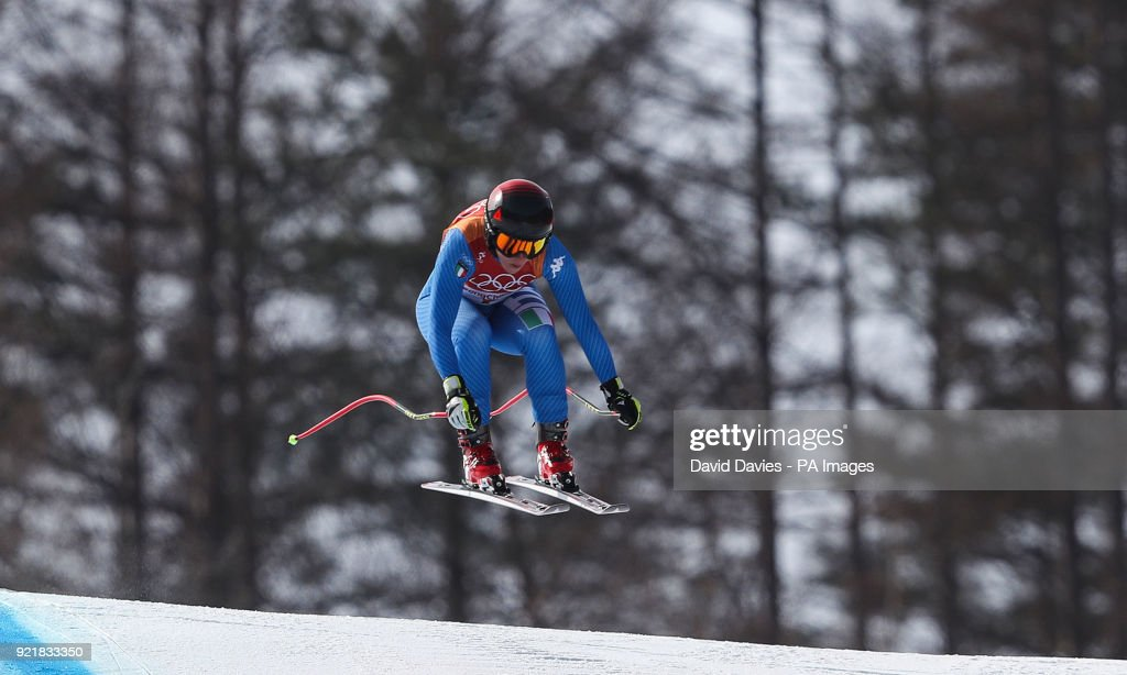 Italy's Sofia Goggia in the Womens Downhill at the Jeongseon Alpine Centre during day twelve of the PyeongChang 2018 Winter Olympic Games in South Korea.