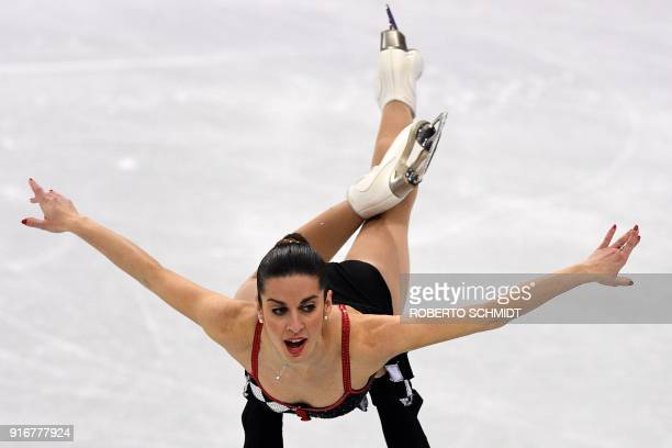 Italy's Valentina Marchei and Italy's Ondrej Hotarek compete in the figure skating team event pair skating free skating during the Pyeongchang 2018...