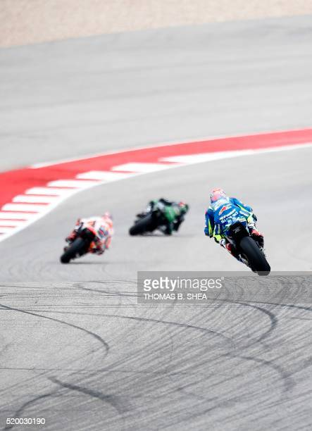 Italy's Valentino Rossi during qualifying in the 2016 Grand Prix of the Americas MotoGP race at circuit of the Americas in Austin Texas on April 9...
