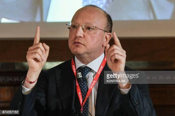 Italy's Vincenzo Boccia, president of the Confindustria .