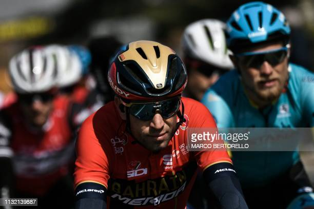 Italy's Vincenzo Nibali rides during the oneday classic cycling race Milan San Remo on March 23 2019