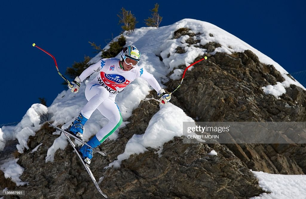 """Italy's Werner Heel jumps at the """"Hundsc : News Photo"""