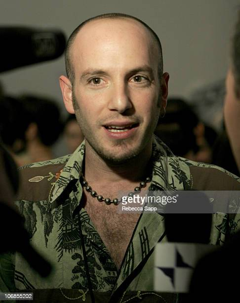 Itamar Zechoval Moda designer during MercedesBenz Fall 2005 LA Fashion Week at Smashbox Studios Moda Backstage and Front Row at Smashbox Studios in...