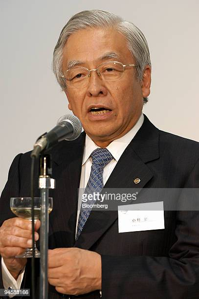 Itaru Koeda Nissan Motor Co Ltd's executive vice president and cochairman speaks at a news conference at the company's production plant to...