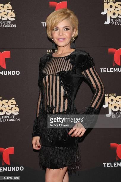 Itati Cantoral attends the 'Jose Jose El Principe De La Cancion' Telemundo tv series premiere at Four Seasons hotel on January 11 2018 in Mexico City...