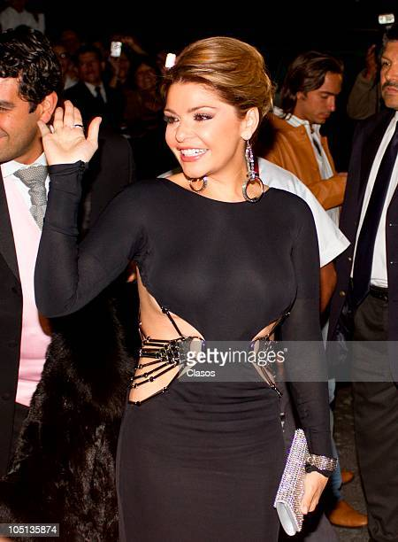 Itati Cantoral attends to the wedding of Pedro Fernandez and Rebeca Garza on October 9 2010 in Mexico City Mexico