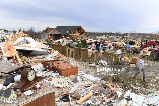 Items at the home of Bill and Linda Leath are seen after tornados ravaged the area on Wednesday March 04 2020 in Cookeville TN The storms hit the...