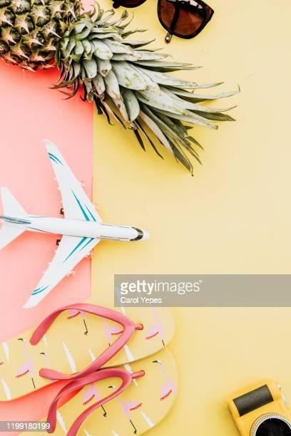 items for a summer traveler - サンダル ストックフォトと画像