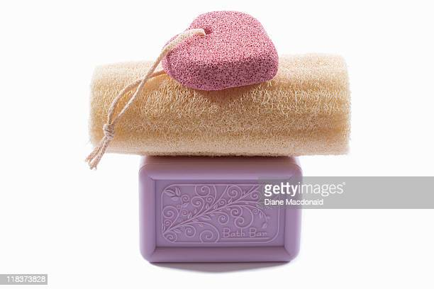 Items for exfoliating and bathing