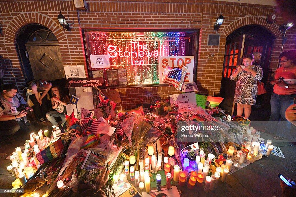 Vigil Held At The Stonewall Inn For Orlando Shooting Victims : News Photo