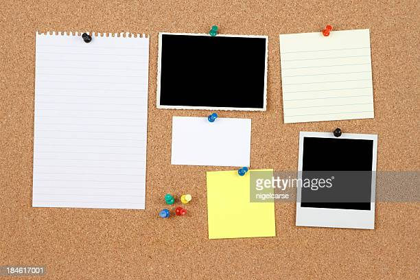 items on a notice board - bulletin board stock pictures, royalty-free photos & images