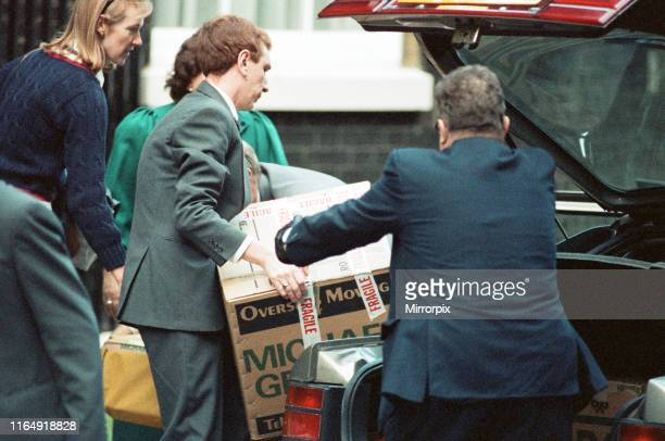 Items removed from10 Downing Street after John Major won the Conservative leadership battle 27th November 1990