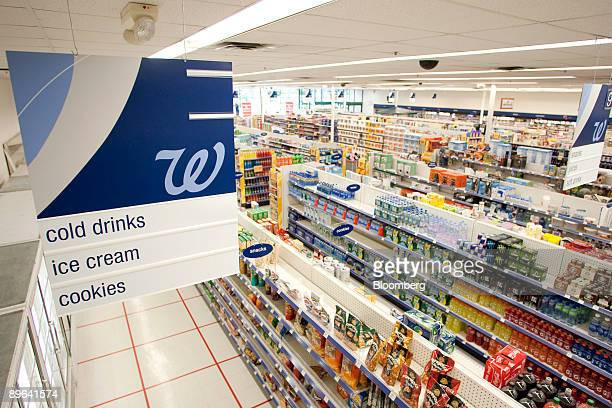 Items sit on shelves inside a Walgreens store in Wayne New Jersey US on Monday June 22 2009 Walgreen Co the secondlargest US drugstore chain said...