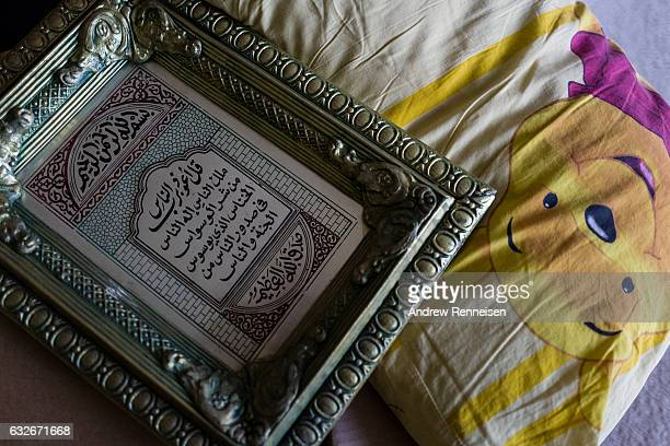 Items the Haj Kalif family brought from Jordan lay on the floor the day of the move into their new apartment on July 24 2015 in Bloomfield Hills...