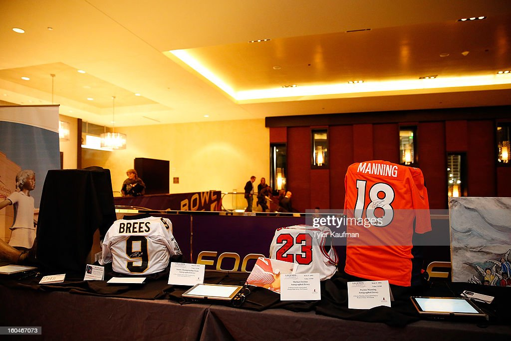 Items to be auctioned off at the 2013 Legends For Charity Dinner Honoring Archie Manning at the Hyatt Regency New Orleans on January 31, 2013 in New Orleans, Louisiana.