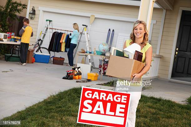 items to sell at garage sale - garage sale stock pictures, royalty-free photos & images