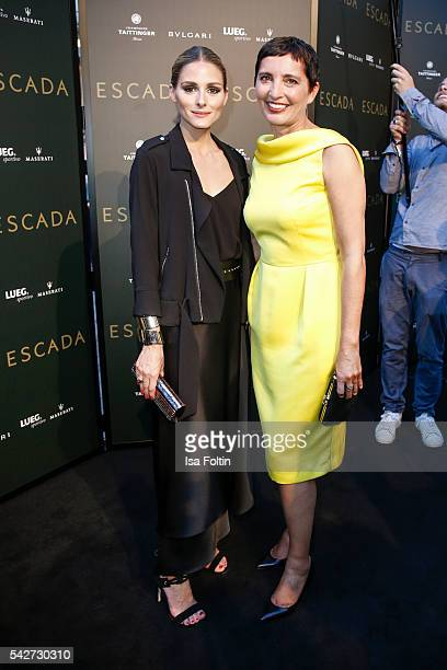 ItGirl and Style Icon Olivia Palermo Iris Epple Righi CEO Escada attend the ESCADA Flagship Store Opening on June 23 2016 in Duesseldorf Germany