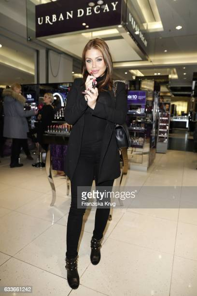 ItGirl Kim Gloss attends the Urban Decay ReOpening at KaDeWe Berlin on February 3 2017 in Berlin Germany
