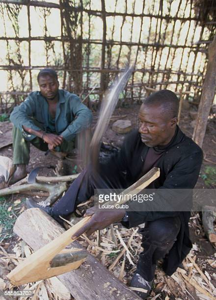 Itinerant carpenter Barthelemy Formal fashions axes from wood to sell to local farmers He is one of many who are drifting back to the danger area...