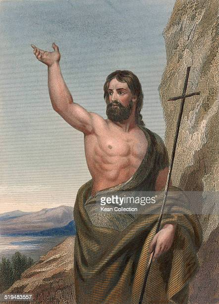 Itinerant preacher and major religious figure John the Baptist From an original engraving by E Finden after a painting by John Wood