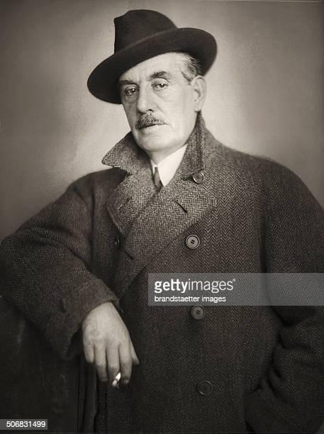 Itlaien composer Giacomo Puccini. Vienna. Photograph. 1923 .