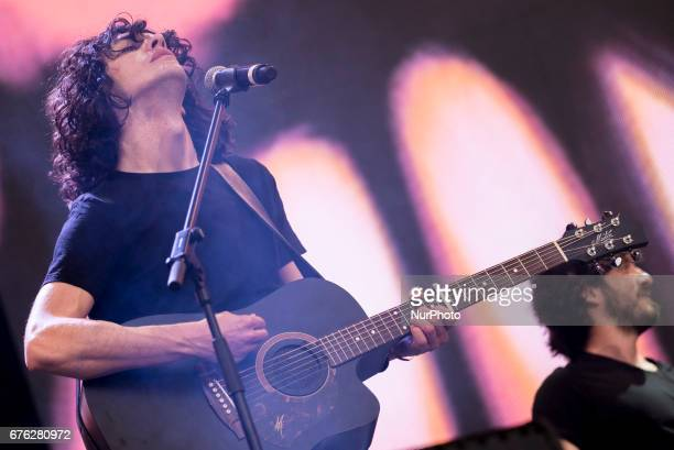 Itlian songwriter Motta performs live during Labor Day concert organized by the main unions in Rome Monday May 1 2017