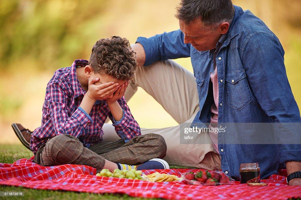 It'll be ok son... : Stock Photo